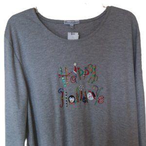 Gray Holiday Shirt XXL NEW NWT